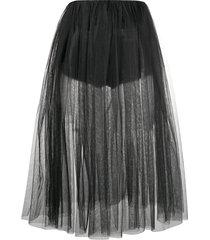 alchemy mid-length tulle skirt - black