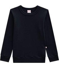 blusão básico de moletom preto