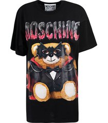 moschino teddy bat printed oversized t-shirt