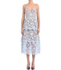self-portrait lace dress light blue