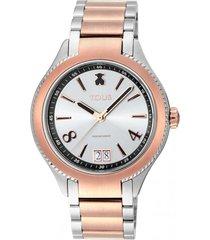 reloj st bicolor de ip rosa tous