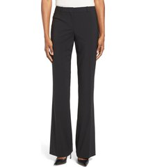 boss tulea3 bootcut wool trousers, size 0 in black at nordstrom