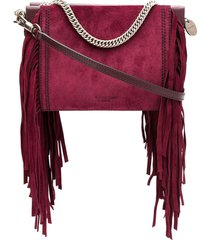 givenchy fringe square clutch bag - purple