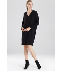 natori bi-stretch wedge dress, women's, black, size m natori