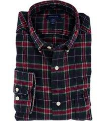 flannel overhemd gant donkergroen geruit
