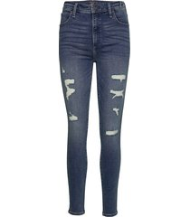 high rise super skinny jeans skinny jeans blå abercrombie & fitch