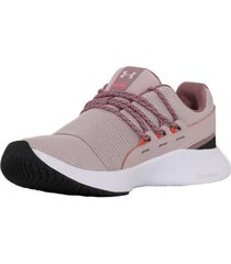 zapatilla rosa under armour charged breathe lace mujer rosa