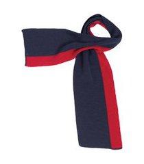 cachecol de trico lazy marinho/vermelho