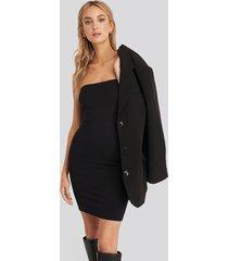 na-kd basic basic jersey bandeau dress - black