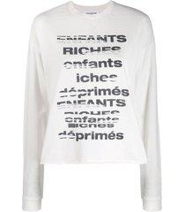 enfants riches déprimés tv static relaxed-fit sweatshirt - white