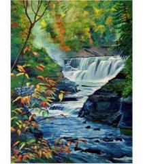 "david lloyd glover genesee river in autumn canvas art - 15"" x 20"""