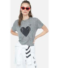 capri love more heart - xl heather grey