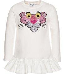 monnalisa pink panther printed long t-shirt