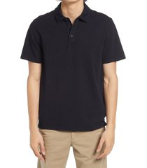 vince regular fit garment dyed cotton polo shirt, size xx-large in washed coastal at nordstrom