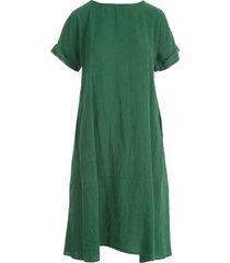 rosso puro linen s/s dress