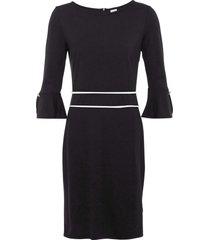 abito con bottoni gioiello (nero) - bodyflirt boutique