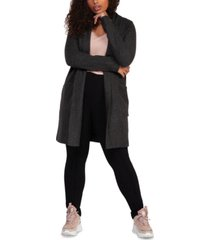black tape plus size long-sleeve cardigan sweater