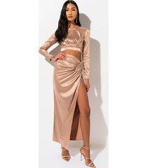 akira golden hour rhinestone maxi skirt