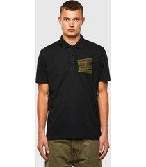 polera t warrelyoke polo shirt 9xx negro diesel