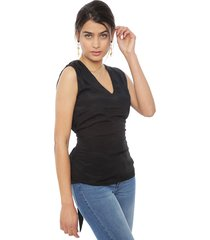 blusa vero moda andrea negro - calce ajustado