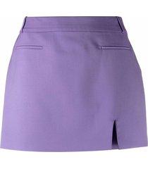 the attico slit-detail tailored mini skirt