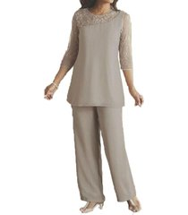 blevla long sleeves mother of the bride dresses pantsuits grey us 18 plus