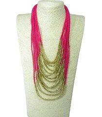collar artesanal rosa sasmon cl-12344