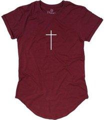 camiseta longline stoned gold faith masculina