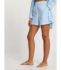 river island womens blue stripe loose fit shorts
