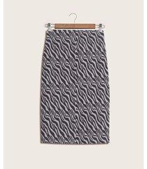 falda tubo con elástico estampada