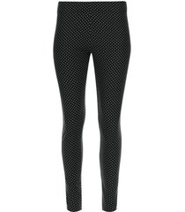 legging estampado lunares color negro, talla l