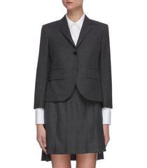 classic single breast wool blazer