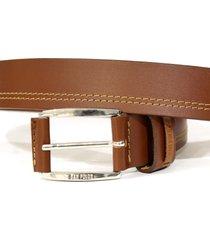cinturon masculino, marca san polos, color café. san polos - marrón