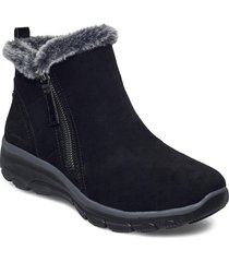 womens easy going shoes boots ankle boots ankle boot - flat svart skechers