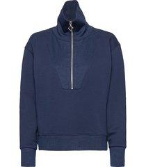 d1. half zip sweat sweat-shirt trui blauw gant