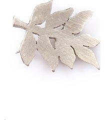 broszka srebrny liść jesionu (mała)