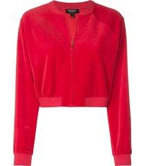 juicy couture velour crop jacket - red