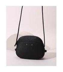 bolsa feminina média com alça transversal preta