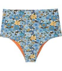 clube bossa ceanna printed bikini bottom - blue