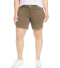 plus size women's slink jeans high waist shorts
