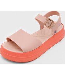 sandália zaxy spot rosa/laranja