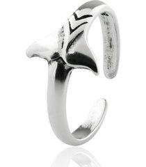 anel de prata sal do mar para falange cauda de baleia