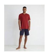 pijama curto básico em poliviscose | viko | multicores | p