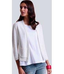 vest alba moda wit::zilverkleur