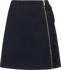 zip ruffle skirt