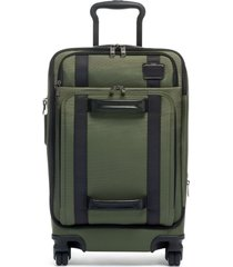 tumi merge 22-inch front lid recycled dual access 4-wheeled carry-on -