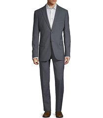 two-button slim wool suit