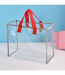 beach borsa borsa da viaggio trasparente da donna in pvc da viaggio borsas