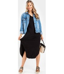 sammie knit maxi dress - black
