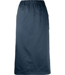 aspesi pull-on straight-fit skirt - blue